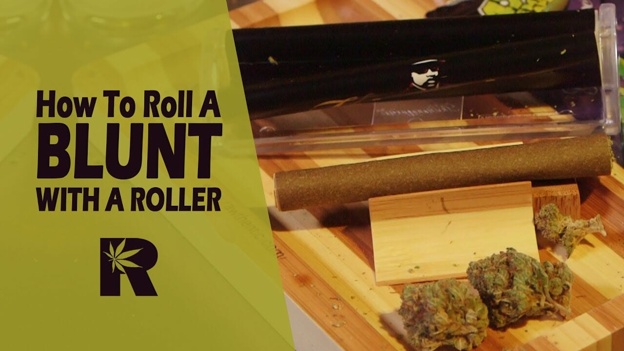 How To Roll A Blunt With a Rolling Machine (Kingpin Blunt Roller): Cannabasics #51