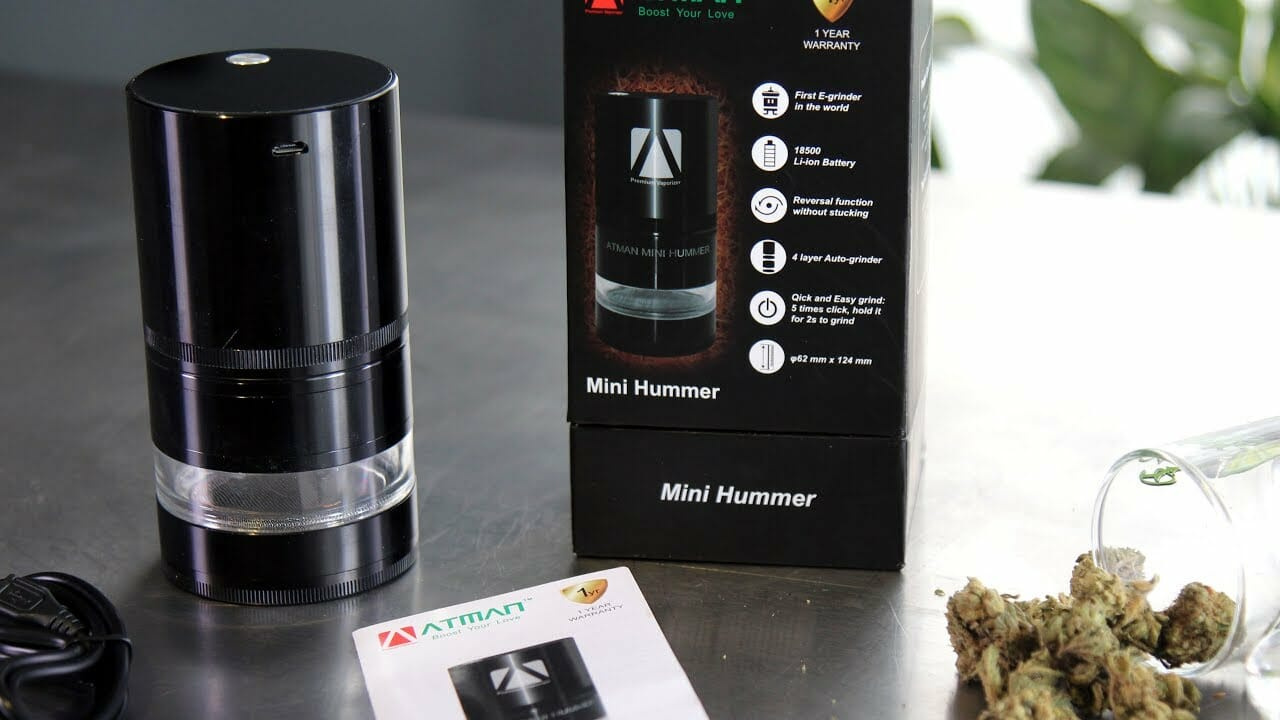 Atman Hummer Mini Electric Cannabis Grinder Review Unboxing Usage