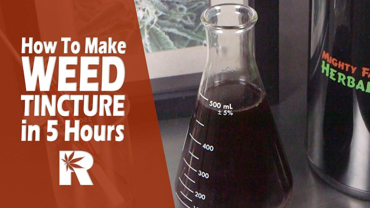 How To Make Weed eCig Juice (Potent Cannabis Alcohol Tincture Method): Cannabasics #55